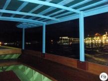 Night boat tour around the water village